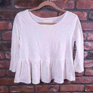 Free People Tops - We The Free Project Social T 3/4 Sleeve Peplum Top